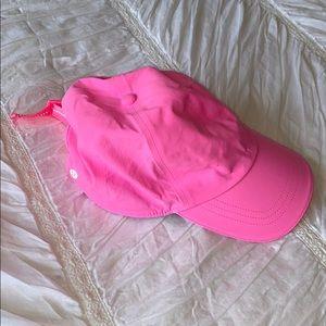 Lululemon Athletic Neon Pink Running Hat